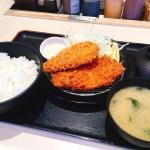 松のやのロースかつ&サーモンフライ定食700円