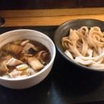 肉汁饂飩屋とこ井の肉汁つけうどん830円と揚げ茄子50円