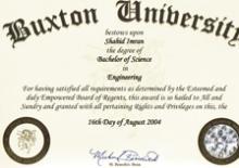 Fake Degree From Buxton University