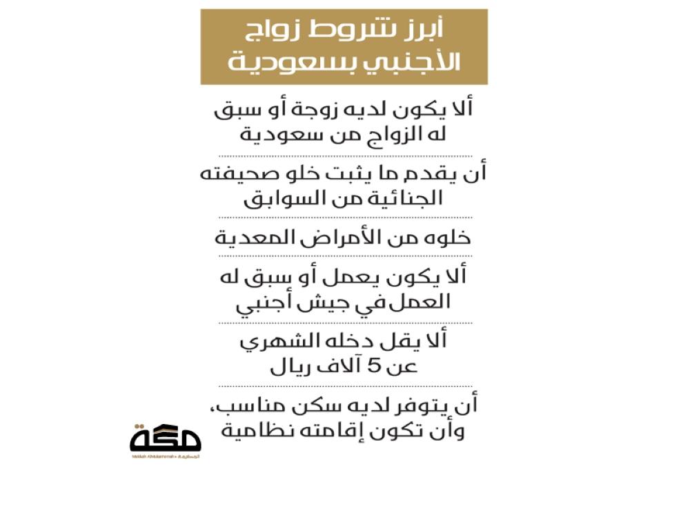 راتب 3 آلاف شرط زواج المواطن من أجنبية صحيفة مكة