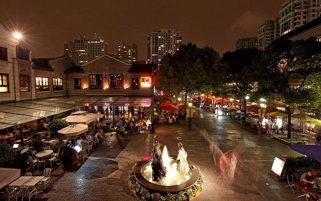 夜上海の夜景