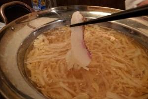 清川の居酒屋 善乃膳 真鯛のしゃぶしゃぶ