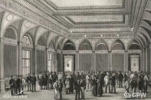 Rzeczywistość parkietu na warszawskiej giełdzie w 1877 roku
