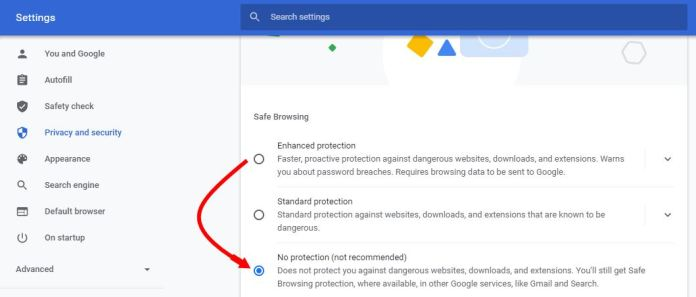 stop chrome from blocking downloads