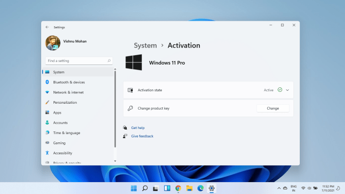 Activate Windows 11 free without product keys