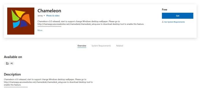 Chameleon Wallpaper App Live Wallpapers for Windows 11