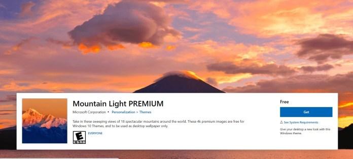 Mountain Light Premium theme for Windows 11