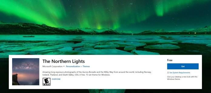 Northern Lights theme for Windows 11
