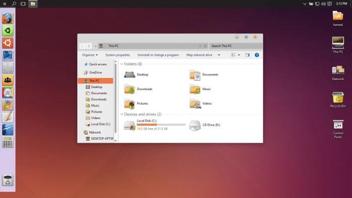 Ubuntu SkinPack for Windows 11