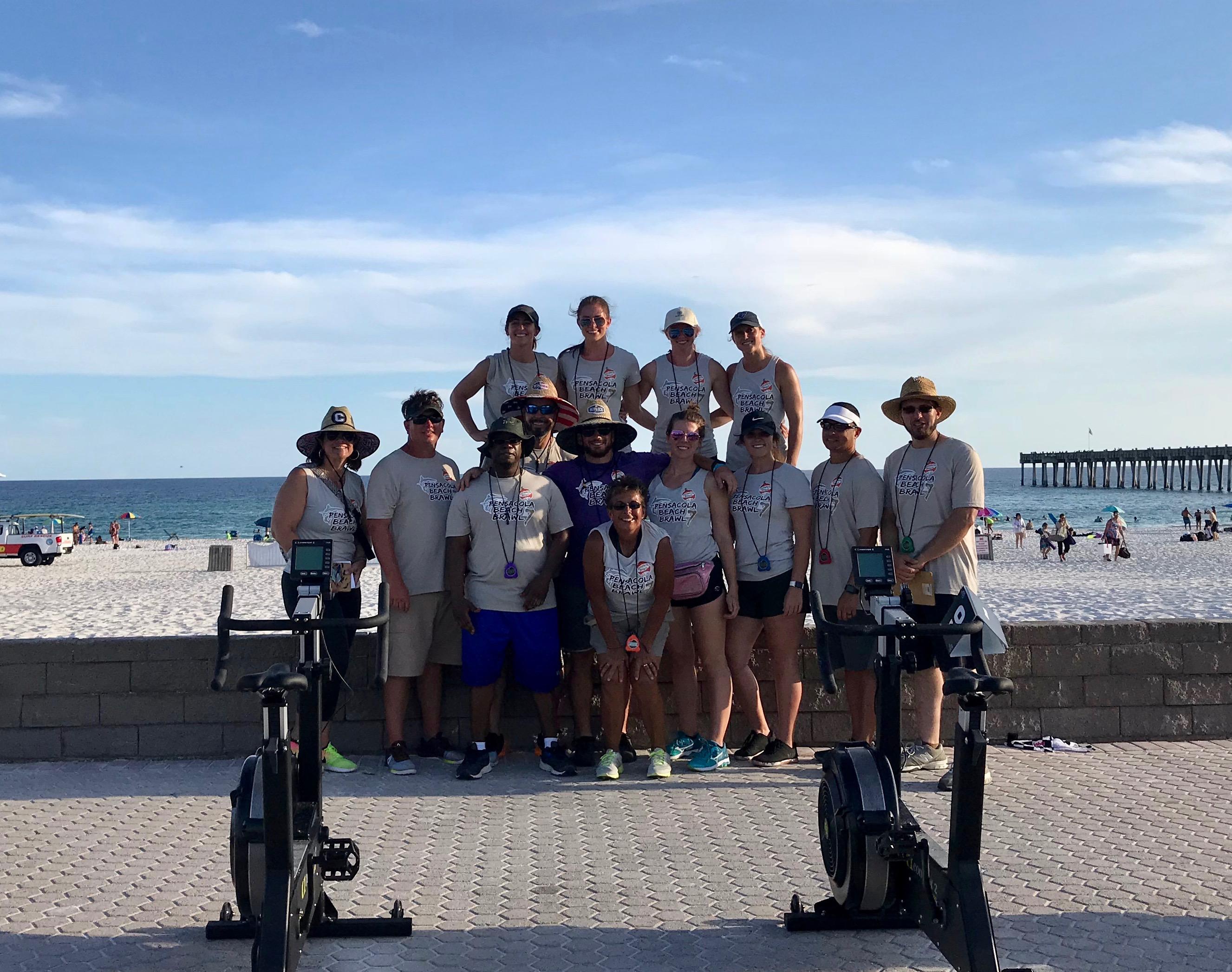 Beach Brawl Volunteers at beach