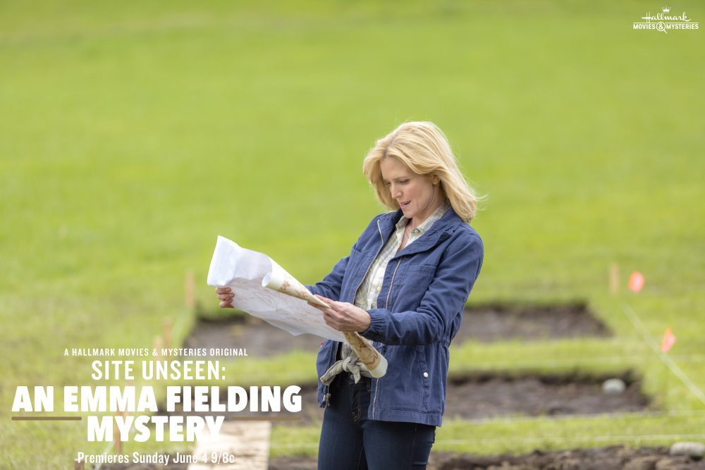 "Tune-in to Hallmark Movies & Mysteries ""Site Unseen: An Emma Fielding Mystery"" this Sunday, June 4th at 9pm/8 #SLEUTHERS"