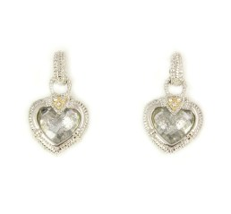 jane heart earrings white