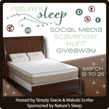 Nature's Sleep Social Media Scavenger Hunt Mattress Sweepstakes