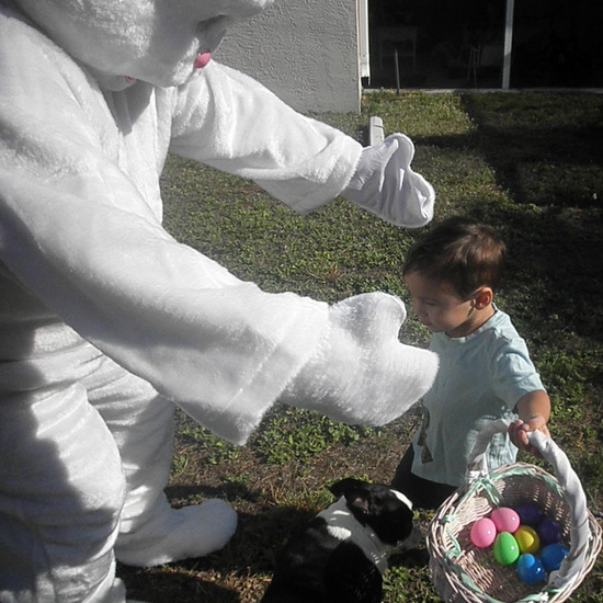 Kids love the Easter Bunny