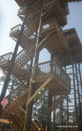 Crazy Steps To The Zipline Run