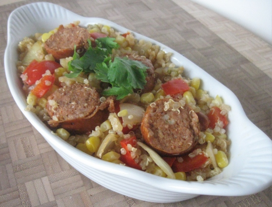 Quinoa with Chorizo and Chayote Squash Recipe