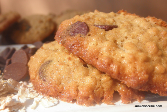 Chocolate Chip Oatmeal Buttermilk Cookies Recipe