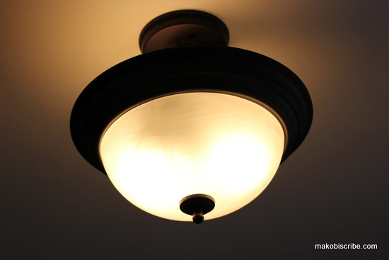 Semi-flushmount ceiling light