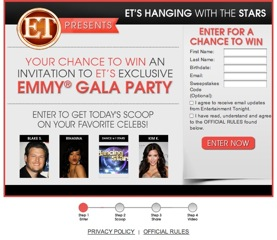 Win A Round Trip To California AND Get To See The Emmys LIVE! Sweepstakes