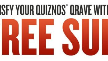 free Fathers day coupon to quiznos