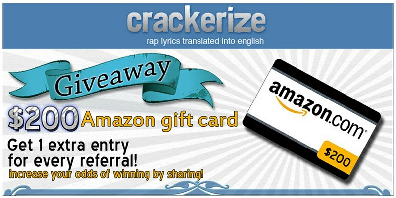Win a $200 Amazon Card from Crackerize