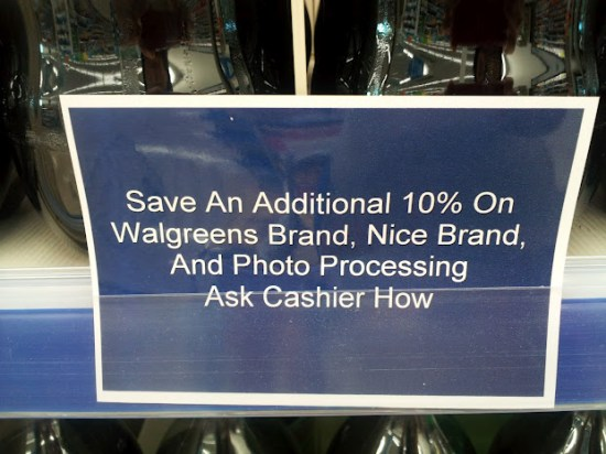save at walgreens