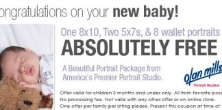 Free Infant Portrait Package from Olan Mills
