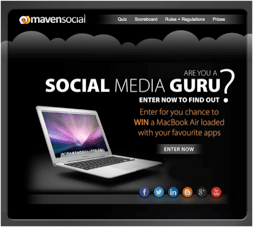 11″ MacBook Air Sweepstakes from Maven Social