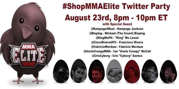 #ShopMMAElite Twitter Party