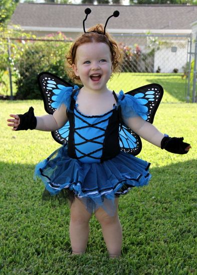 Toddler Girls Tutu Butterfly Costume
