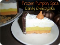 Frozen Pumpkin spice candy CheeseCake