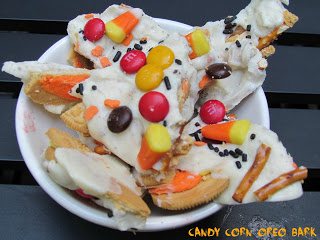 candy corn oreo bark