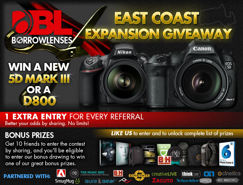 Canon 5D Mark III or Nikon D800 Sweepstakes