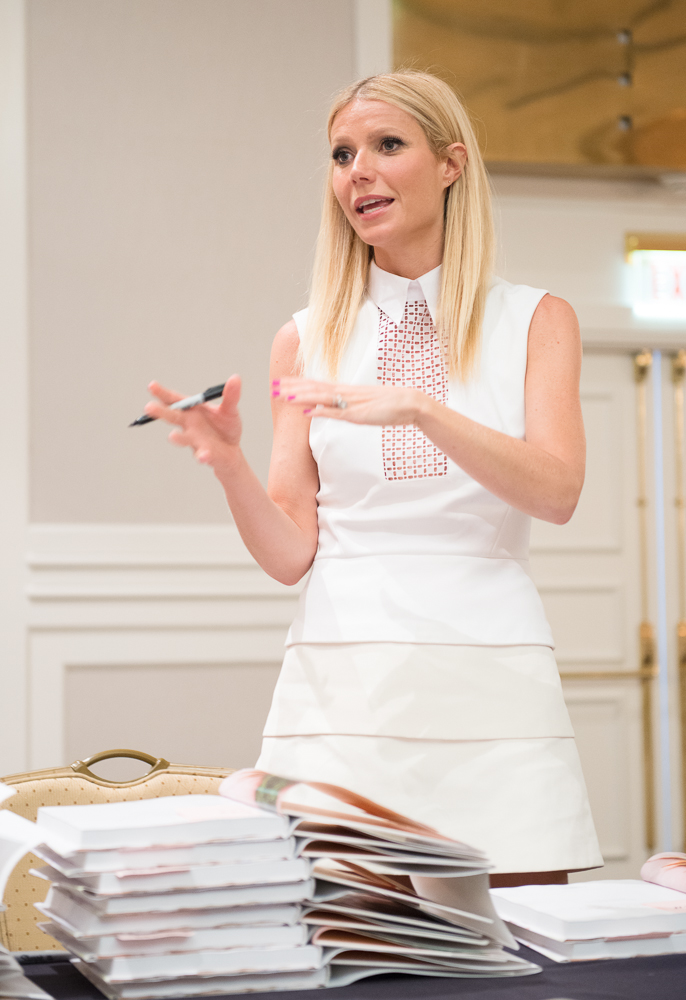 Gwyneth Paltrow signing her cookbook