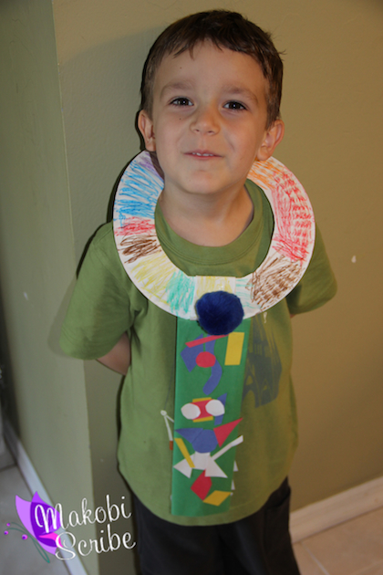 Paper plate Fathers Day craft preschool
