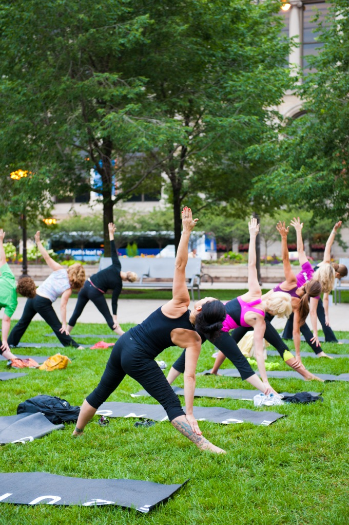 Fun With Yoga In The Park With Yasso And Albion Fitness