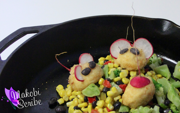 Quick Dinner Idea – Tyson Cordon Bleu Chicken Mice #Clip4School
