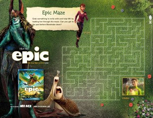 epic movie printable activity sheet
