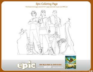 Epic movie printable coloring pages