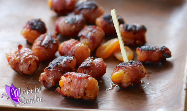 Apricot Stuffed Bacon Recipe #goodcookcom