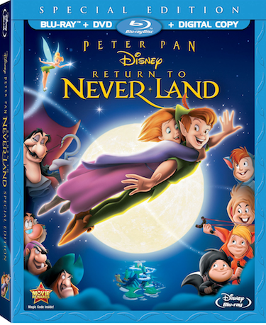 Disney's Peter Pan Return To Neverland on Blu-Ray
