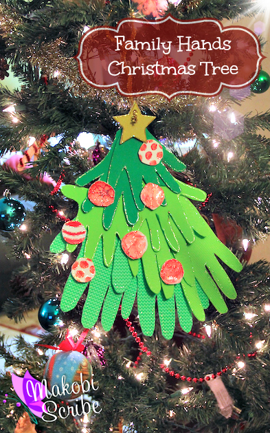 Easy Christmas Crafts For Kids: Family Hands Tree