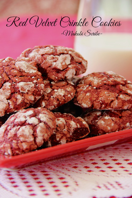 Red Velvet Crinkle Cookies Pinterest