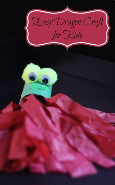 Easy dragon craft for preschool kids