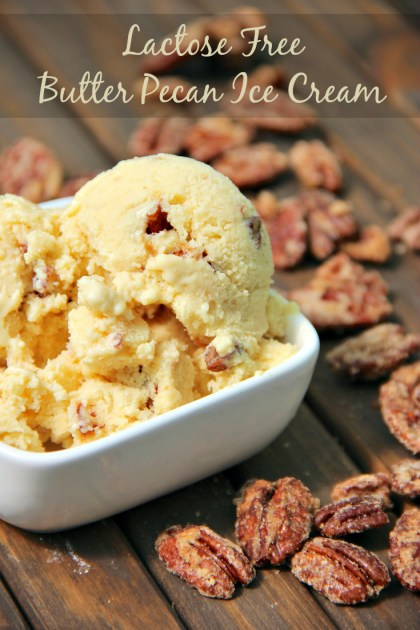 Lactose Free Butter Pecan Ice Cream Recipe