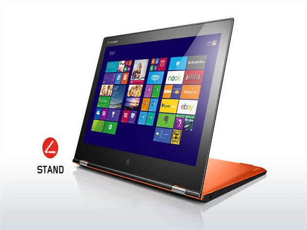 lenovo-laptop-convertible-yoga-2-pro-orange-stand-mode-17