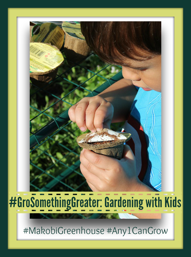Gardening With Kids #GroSomethingGreater #MakobiGreenhouse