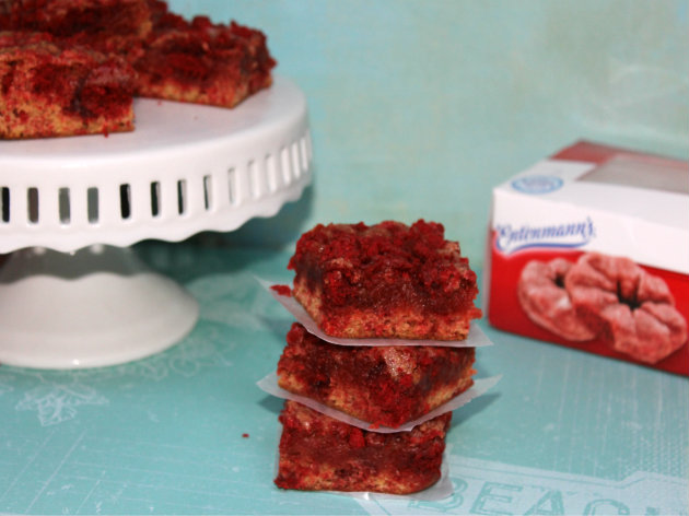 Red Velvet Donut Blondies Recipe