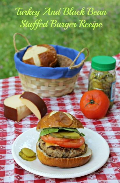 Turkey And Black Bean Stuffed Burger Recipe