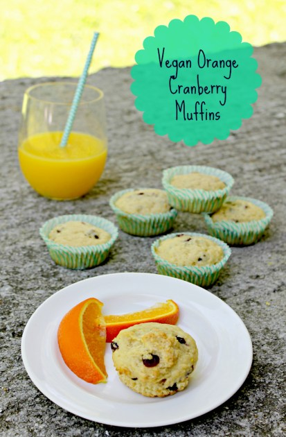 Vegan Orange Cranberry Muffins Pin